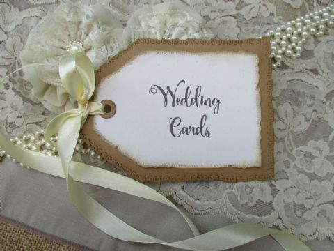 Ivory Handmade Tag Cards Sign